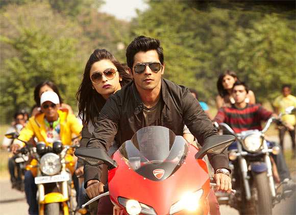 Aliya Bhatt and Varun Dhawan in STOY