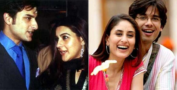 Saif Ali Khan and Amrita Singh, Kareena Kapoor and Shahid Kapoor