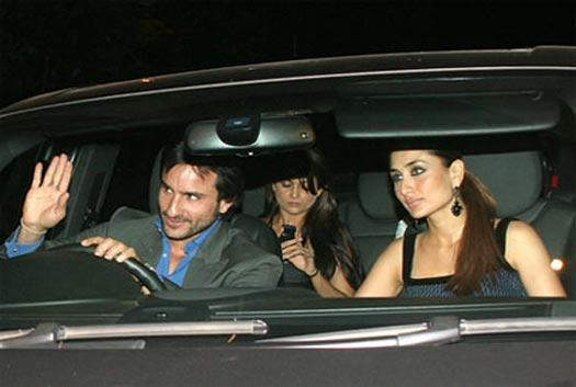 Saif Ali Khan, Amrita Arora Ladak and Kareena Kapoor