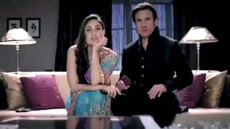 Kareena Kapoor and Saif Ali Khan in the Airtel DTH ad