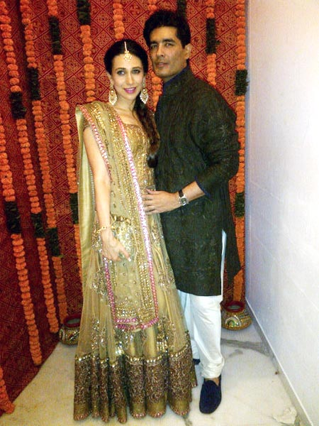 Karisma Kapoor and Manish Malhotra