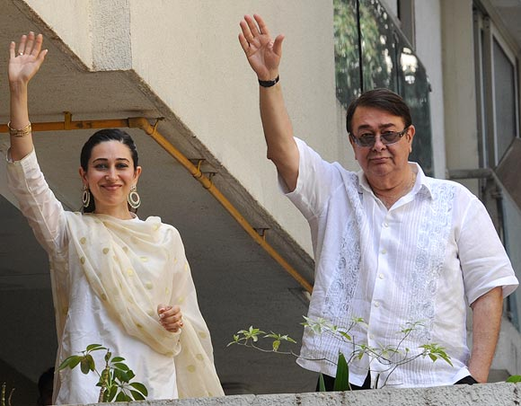 Karisma and Randhir Kapoor