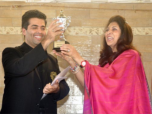 Karan Johar and Indu Shahani
