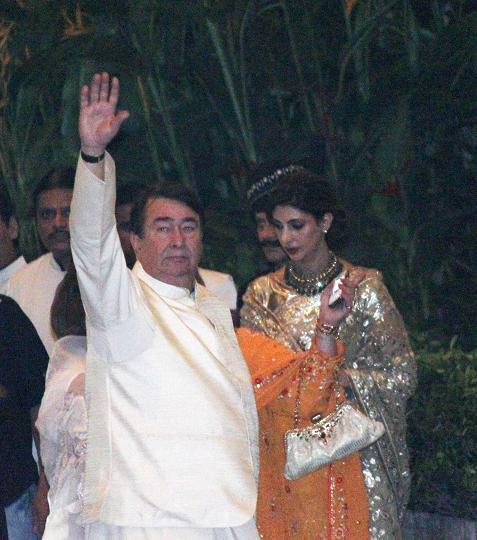 Randhirt Kapoor and Shweta Bachchan