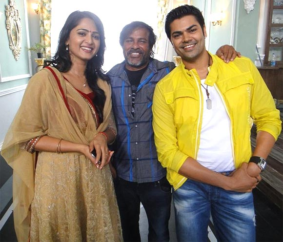 Anushka Shetty, Chota Naidu and Ganesh Venkatraman