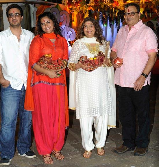 Rahul Puri, Meghna Ghai Puri, Rehana and Subhash Ghai