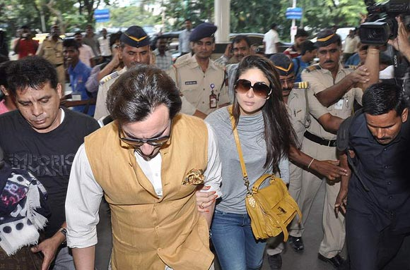 Kareena Kapoor with Saif Ali Khan
