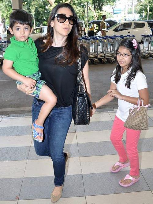 Kiaan, Karisma Kapoor and Samaira