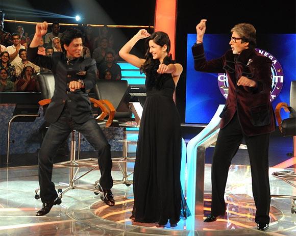 Shah Rukh Khan, Katrina Kaif and Amitabh Bachchan