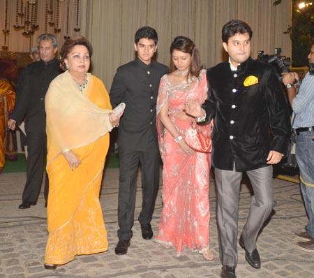 Madhavi Raje, Priyadarshini Raje and Jyotiraditya Scindia