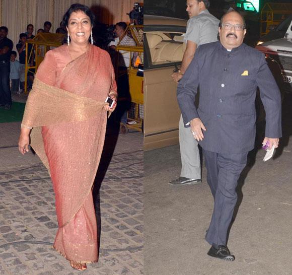 Renuka Choudhury and Amar Singh