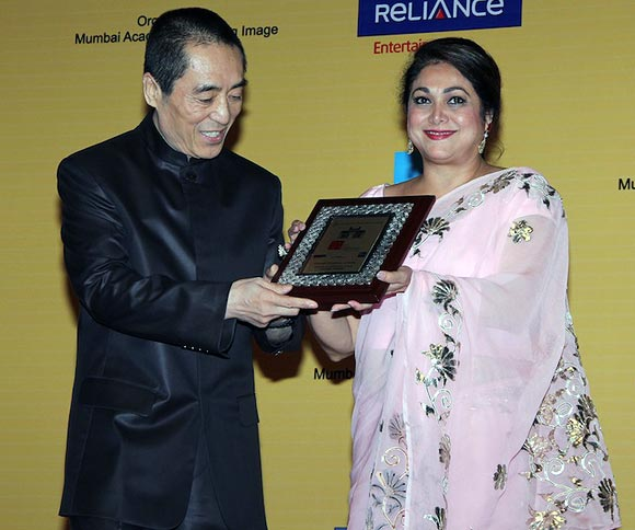 Zhang Yimou and Tina Ambani