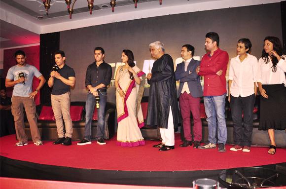 Farhan Akhtar, Aamir Khan, Ritesh Sidhwani, Rani Mukerji, Javed Akhtar, Ram Sampath, Reema Kagti and Zoya Akhtar