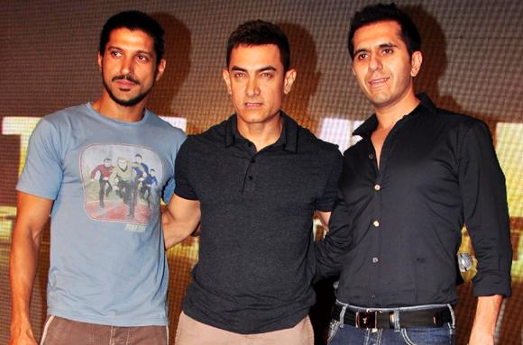 Farhan Akhta, Aamir Khan and Ritesh Sidhwani