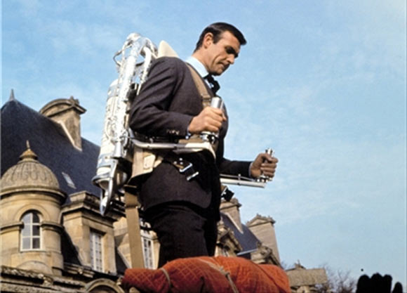 Sean Connery with the Jet Pack from Thunderball
