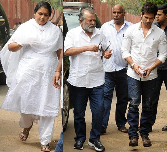 Supriya Pathak, Pankaj Kapur and Shahid Kapoor