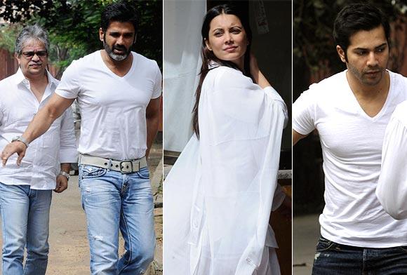 Suniel Shetty, Minisha Lamba, Varun Dhawan