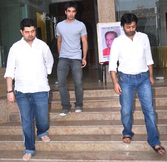 Dabboo Ratnani, Punit Malhotra and Abhishek Kapoor
