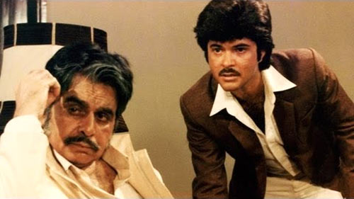 Dilip Kumar and Anil Kapoor in Mashaal