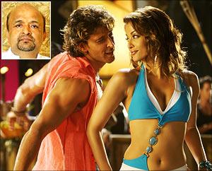 Hrithik Roshan and Aishwariya Rai Bachchan in Dhoom-2. Inset: Sameer
