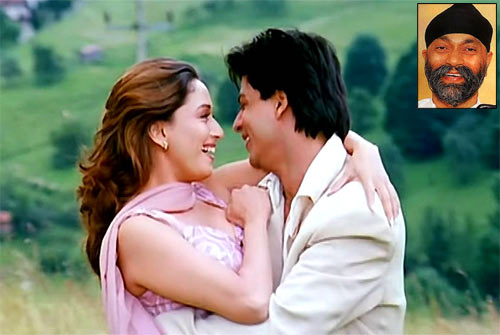 Madhuri Dixit, Shah Rukh Khan in Dil Toh Pagal Hai. Inset: Uttam Singh