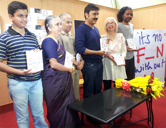 Ramesh Arvind with his son and parents