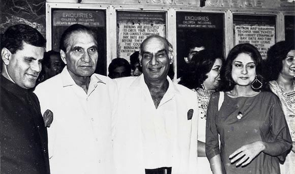 Subba Ram Reddy, B R Chopra, Yash Chopra and Rupa Ganguly