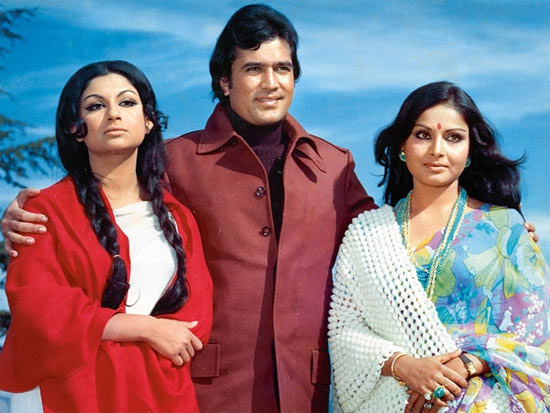 Sharmila Tagrore, Rajesh Khanna and Rakhee in Daag