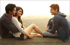 Varun Dhawan, Alia Bhatt and Siddharth Malhotra in SOTY