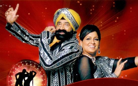 Jaspal Bhatti with wife Savita in Nach Baliye