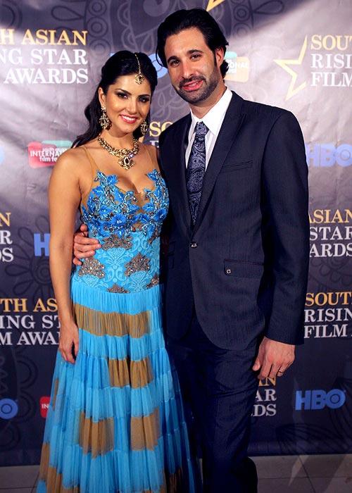 Sunny Leone and Daniel Webber
