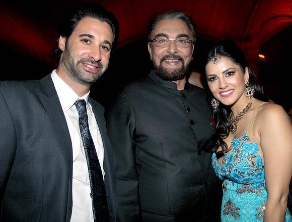 Daniel Webber, Kabir Bedi and Sunny Leone