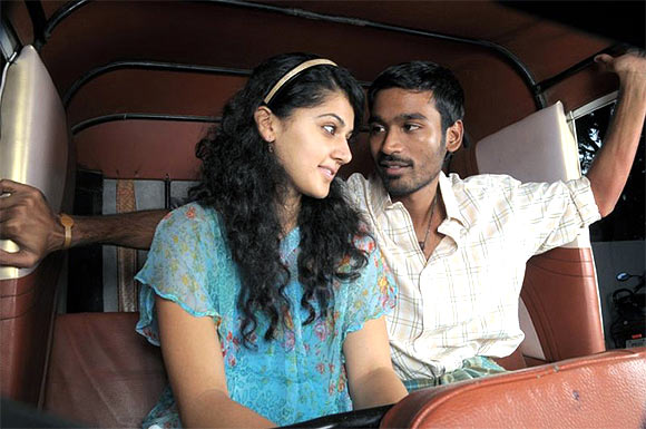 Taapsee and Dhanush in Adukalam