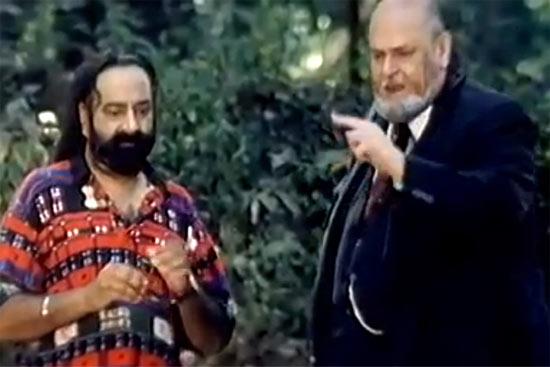 Jaspal Bhatti and Shammi Kapoor in Jaanam Samjha Karo