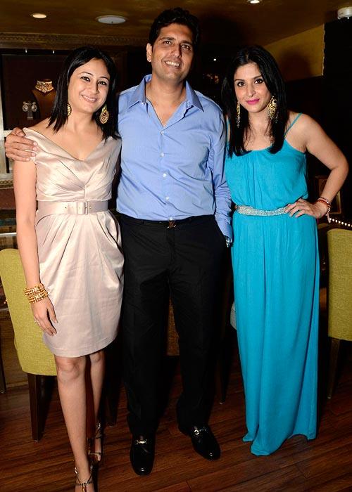Nitya and Shravan Satyani with Maheep Kapoor