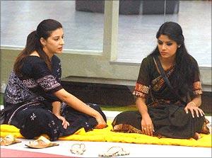 Sana Khan and Sayantani Ghosh in Bigg Boss 6
