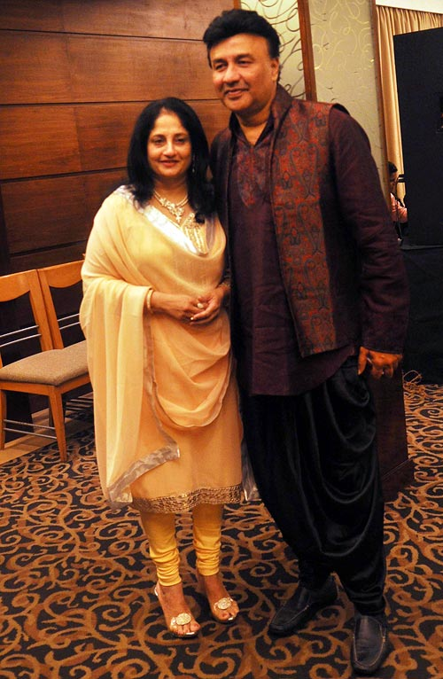 Anu Malik and his wife