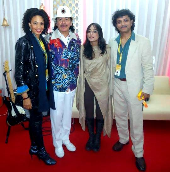 Cindy Blackman-Santana, Carlos Santana, Tipriti Kharbangar and Rudy Wallang