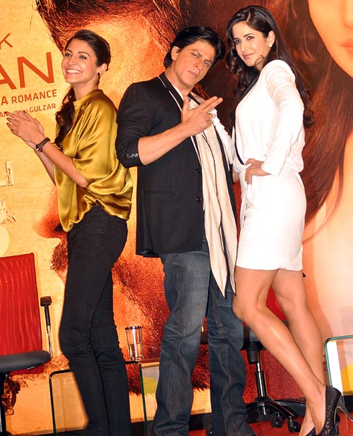 Anushka Sharma, Shah Rukh Khan and Katrina Kaif