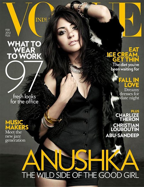 Anushka Sharma on the cover of Vogue magazine