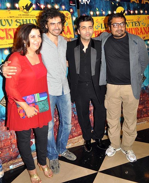 Farah Khan, Imtiaz Ali, Karan Johar and Anurag Kashyap