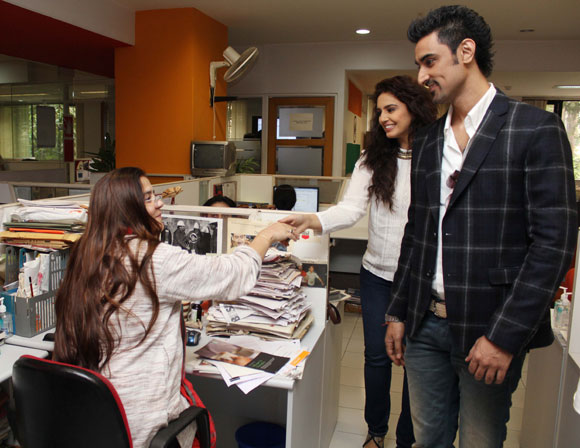 Kunal Kapoor and Huma Qureshi meet Rediff staffers