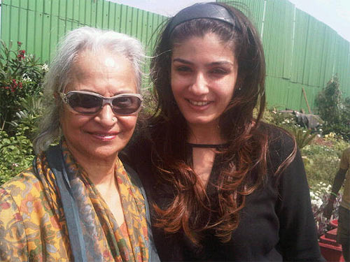 Waheeda Rehman and Raveena Tandon