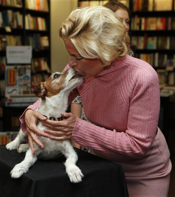 Uggie with Wendy Holden