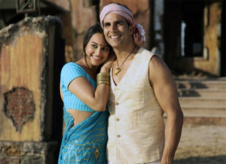 Sonakhsi Sinha and Akshay Kumar in J