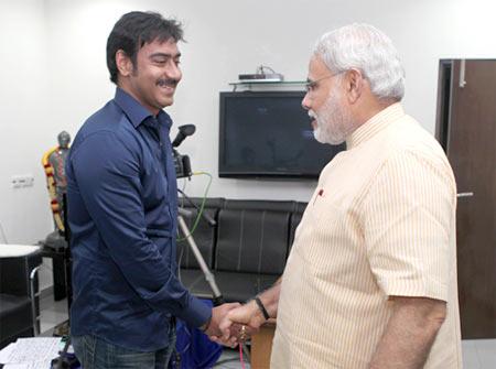Ajay Devgn and Narendra Modi