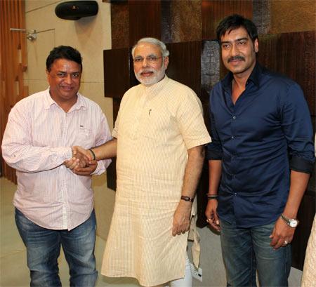Kumar Mangat, Narendra Modi and Ajay Devgn