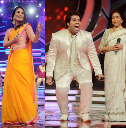 Kareena Kapoor, Vipul Mehta and Asha Bhosle