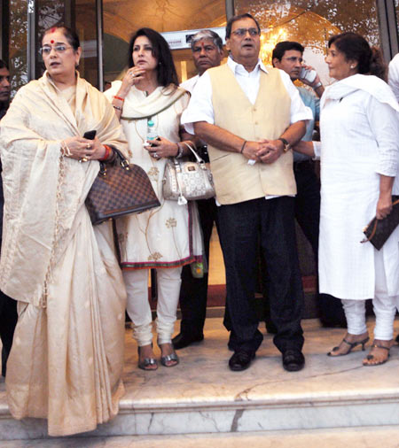 Poonam Sinha, Poonam Dhillon and Subhash Ghai