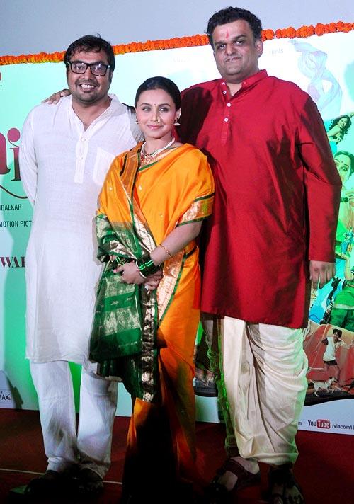 Anurag Kashyap, Rani Mukerji and director Sachin Kundalkar